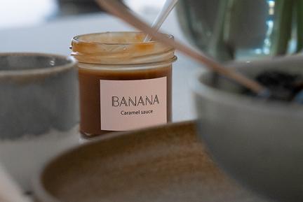 Banana Karamel sauce, Vegansk, Glutenfri, Nøddefri, Sukkerfri Karamel