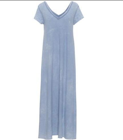 T-shirt kjole i lyseblå