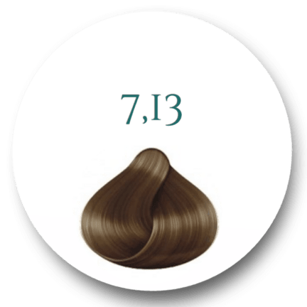Hårfarve 7.13 Medium Beige Blonde 100ml