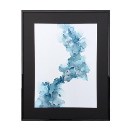 maleri blå sølv