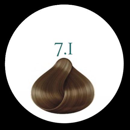 Hårfarve4 7.1 Medium Aske Blonde 100ml
