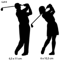 Sportsign golf auto deko sticker silhouet B