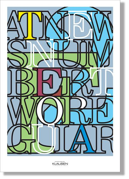 Type collage News number two font Klausen design typoart poster plakat art work webshop