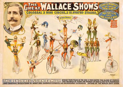 fotomester circus cirkus plakat wallace shows