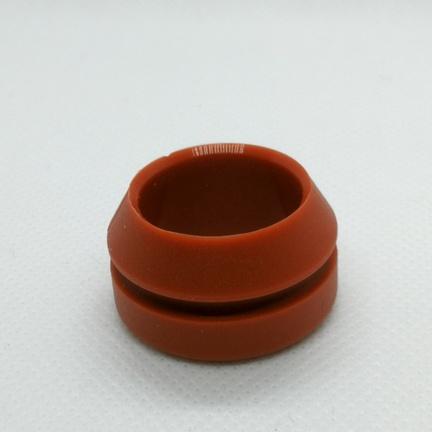 Roed gummipakning til overloebsroeret på Wittenborg FB5100