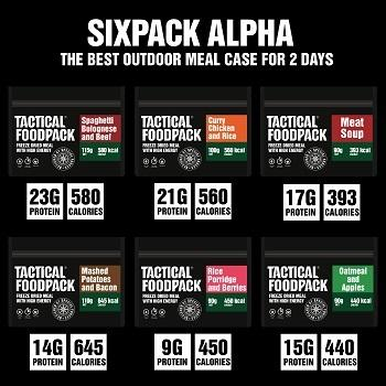 Tactical Foodpack Taktisk Six Pack Alpha