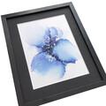 lille maleri blå sølv 22x27