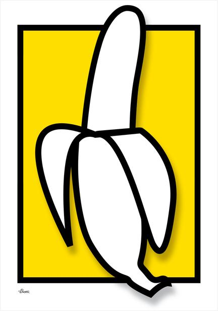 Banana banan graphic colour Poster plakat ©Birger www.artprintandmore.dk