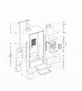 Tegning af placeringen af føler for drypbakke på Wittenborg FB5100