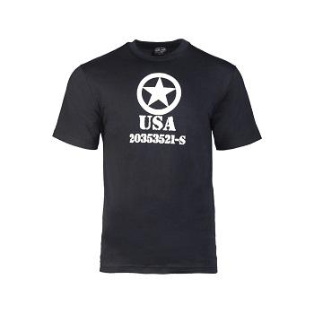 Mil-tec - T-shirt Allied Star (Sort)