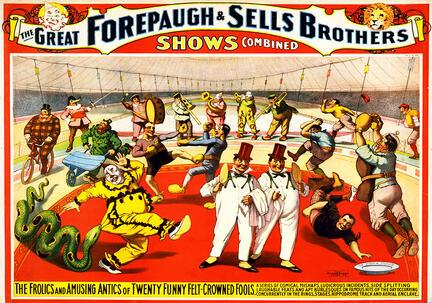 fotomester circus cirkus plakat forepaugh sells