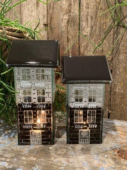 Smukke glas huse til lys