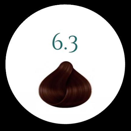 Hårfarve 6.3 Mørk Gylden Blond 100ml incl Beise og Handsker