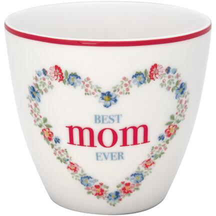GreenGate Latte cup, Mom white
