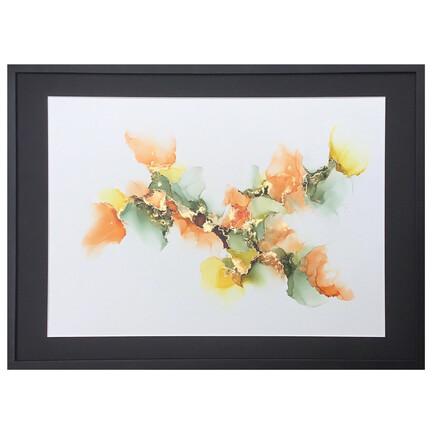 maleri orange grøn 50x70cm