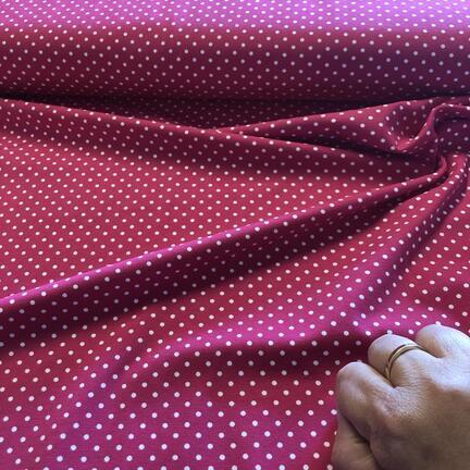 Pink bomuldsjersey med hvid prik