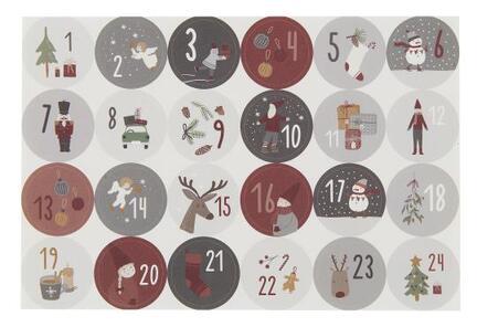 Ark m/24 julekalenderklistermærker 1-24.