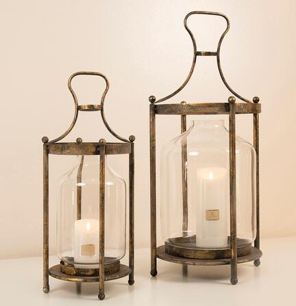 Lanterne, åben antik gul fra La Vida