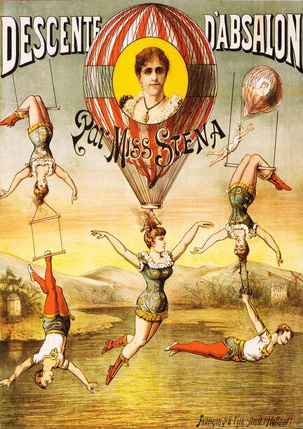 fotomester cirkus circus plakat descente d'absalon