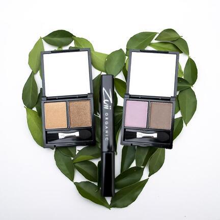 Certified Organic Flora Eyeshadow DUO Pallet dobbelt