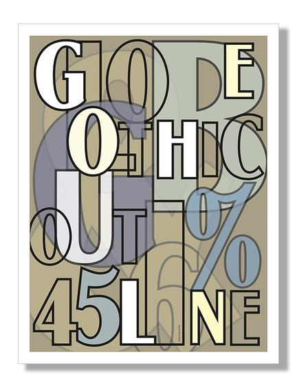 Globe gothic font Klausen design typoart poster plakat art work webshop