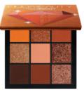 Øjenskygge i Varme glødende orange jordfarver og  nuancer
