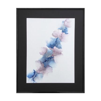 blå rosa maleri 40x50
