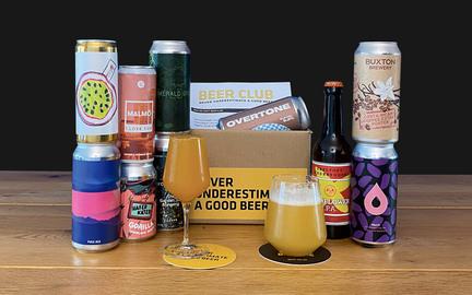 10 velvalgte blandede øl hver måned · Månedskasse med specialøl