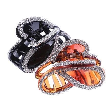 Hårspænde Fashion Jewelry Krystal sløjfe Brun eller sort