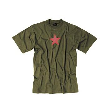 Mil-tec - T-shirt Med Rød Stjerne