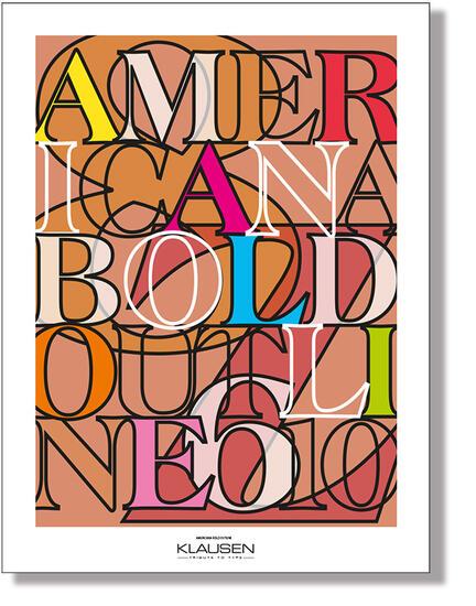 americana font Klausen design skrift type art poster plakat art work webshop