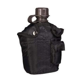 Mil-tec - Feltflaske med Taske (Sort)