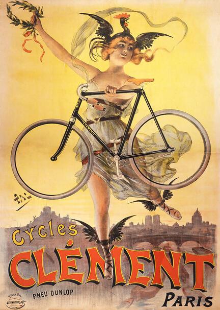 fotomester plakat antik cykel cykler