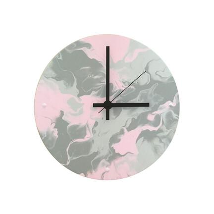 lyserød vægur 25cm