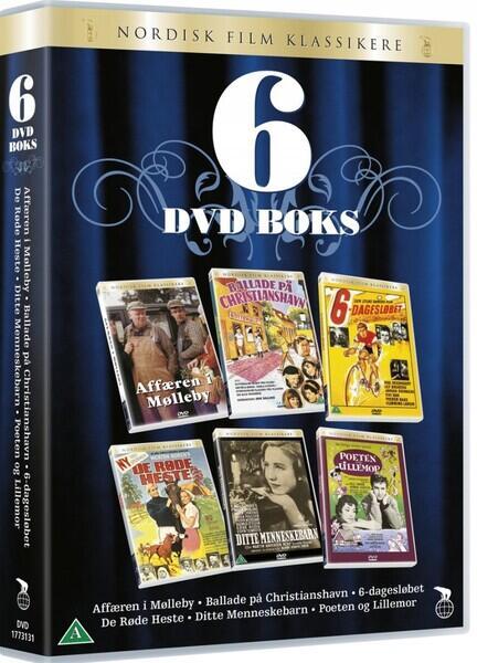 DANSK KOMEDIE, Film Boks, DVD, Affæren i Mølleby, Ballade på Christianshavn, 6 dages løbet, Seks dages løbet, De Røde heste, Ditte Menneskebarn, Poeten og Lillemor