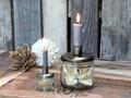 Glas m. skruelåg med holder til bede eller kertelys, fra Chic Antique