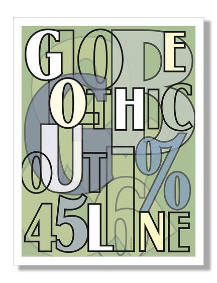 Globe Gothic type art poster Herman Klausen danish design web shop