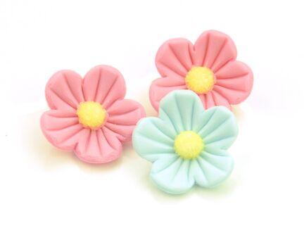 Sukkerblomster rosa-blå