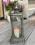 Smal lanterne antik sølv - 051435