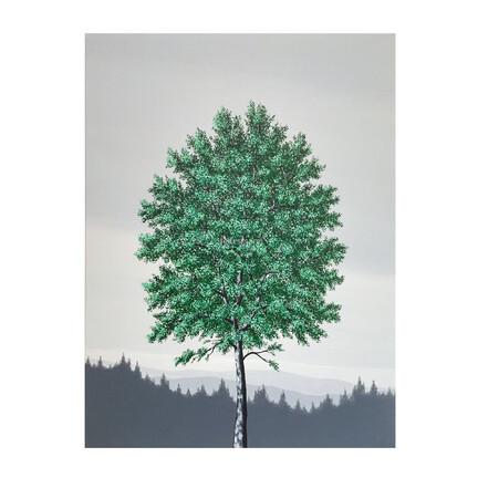 maleri grøn træ