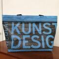 bannerbag, banner bag, bæredygtigt design, unik taske, Huset Venture Kolding, socialøkonomi, socialt bæredygtigt