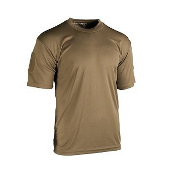 Mil-tec - Taktisk Hurtigtørrende T-shirt (Mørk Coyote)
