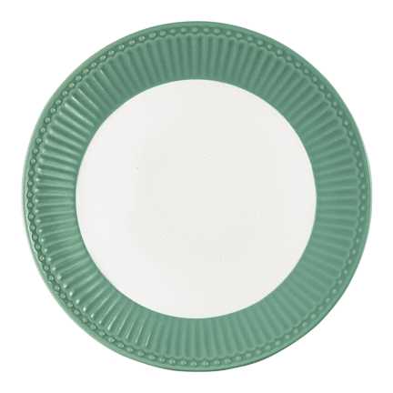 GreenGate dinner plate Alice dusty green