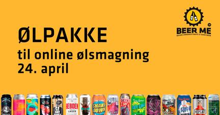 Ølpakke med 4 øl til online ølsmagning fredag den 24. april