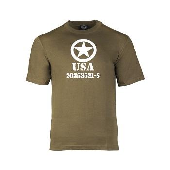 Mil-tec - T-shirt Allied Star (Oliven)