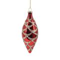 Jule ornament i skindende rød