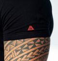 Meteor t-shirt sort ærme logo