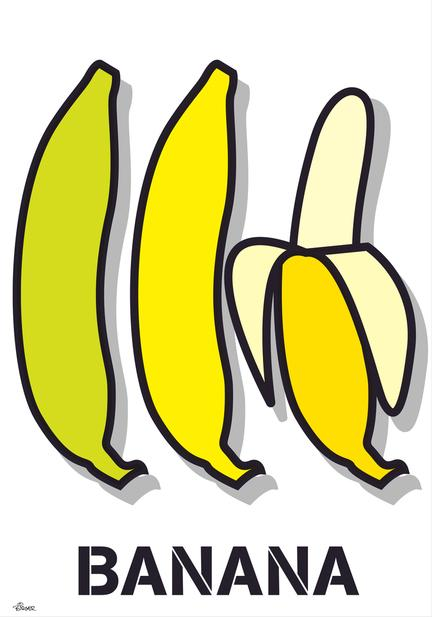 Banan banana illustration graphic vector poster