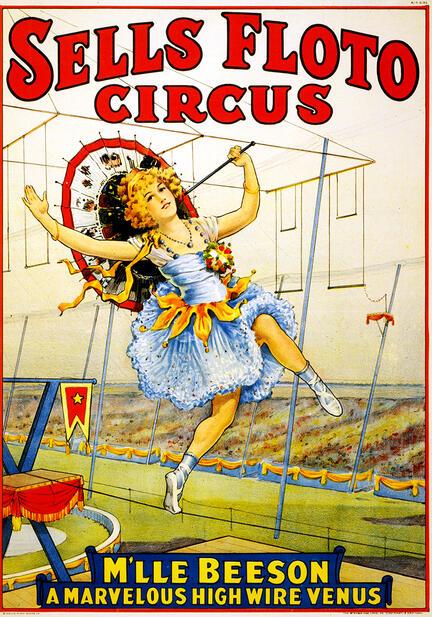 fotomester circus cirkus plakat sells floto beeson