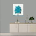 Maleri blå turkis